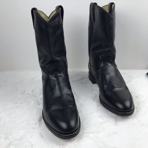 genuine shoes highly praised best sneakers Justin Original roper black leather cowboy boots